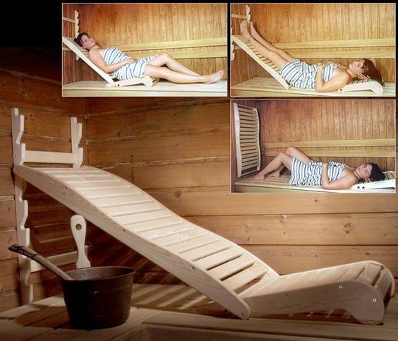 Лежаки для бани и сауны